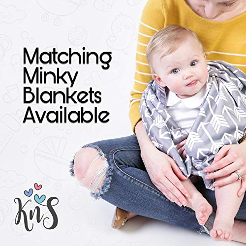 51%2BgG1vvFzL - Minky Nursing Pillow Cover - Arrow Pattern Slipcover