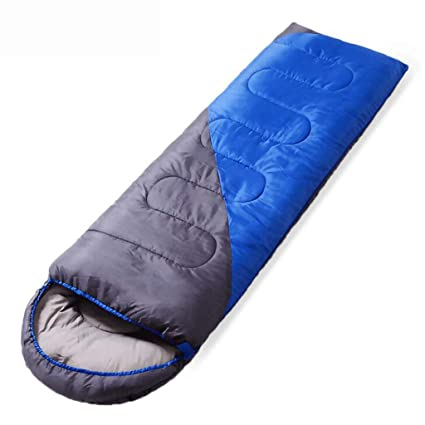 FGSJEJ Four Seasons Sleeping Bag Outdoor Adult Travel Camping Sleeping Bag Splicable Double Sleeping Bag with