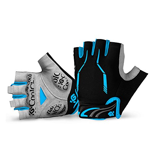 Cool Change Cycling Gloves Mountain Bike Gloves SBR Pad Shockproof | Anti- Slip | Breathable Biking Gloves Sports Half Finger Bicycle Gloves for Men Women ()