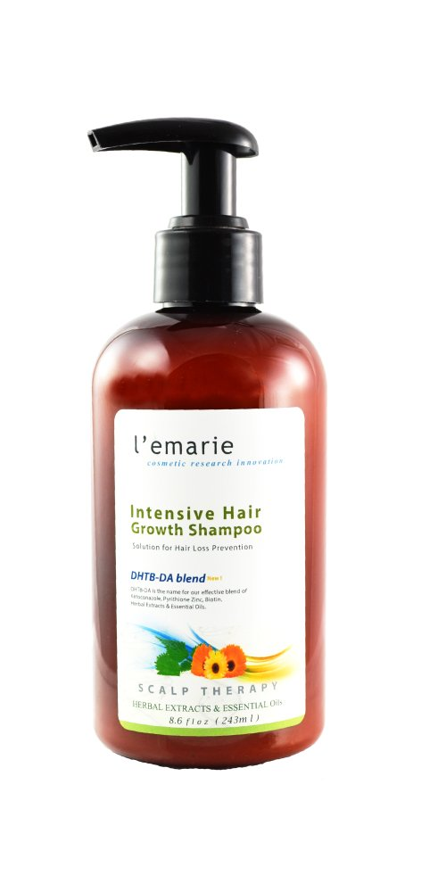 L'emarie Intensive Hair Growth and Hair Loss Shampoo, W/Herbal Extracts, Essential Oils, DHT Blockers & Biotin, DHT Blocking Prevention Hair Growth Treatment for Men and Women, 8.6 Ounces
