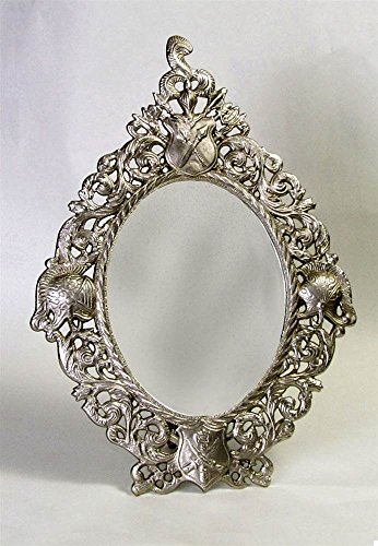 AA Importing Oval Mirror w Frame in Antique Pewter Finish ()