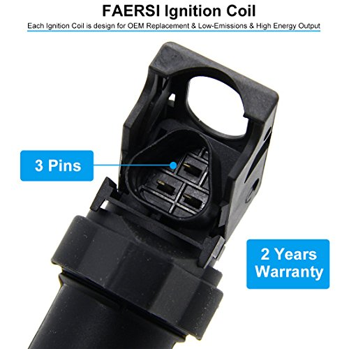 FAERSI Ignition Coil Pack Set Of 6 Replaces OE# 0221504470