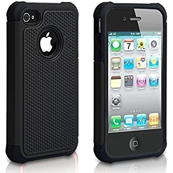 IPhone 4 Case 4S CHTech Shockproof Durable Hybrid Dual Layer Armor Defender