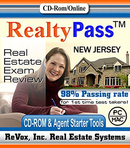2019 New Jersey PSI Realty Pass Real Estate Exam Prep Study Guide Questions and Answers Interactive Software by RealtyPass