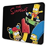 The Simpsons Omarburton Computer Mouse Pad with Non-Slip Rubber Base Premium-Textured Stitched Edges Mouse Pads for Computers Laptop Office & Home