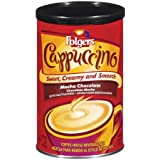 Folgers Cappuccino, Mocha Chocolate Coffee Beverage Mix, 16-Ounces Canisters (Pack of 3)