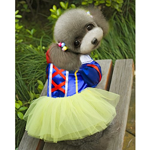 Pet Dog Snow White Disney Halloween Dress Costume Outfit Princess Clothes XS by Generic