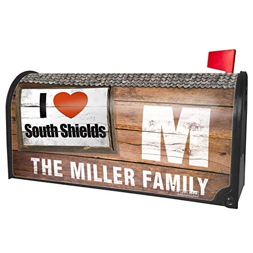 NEONBLOND Custom Mailbox Cover I Love South Shields