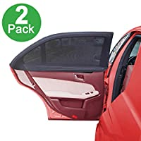 Side Window Sun Shade For Car By Lebogner - Pack of 2 Premium Quality Large Baby Auto Sun Shield, Sun Protector, Blocking over 98% of Harmful UV Rays, Protects Children And Pets From The Sun's Glare