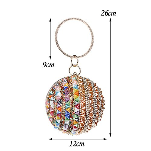 Purse Bags Women Evening Lady Fashion Summer Clutches KYS Rivet colorful Candy Colorful Day w1qPC4xR