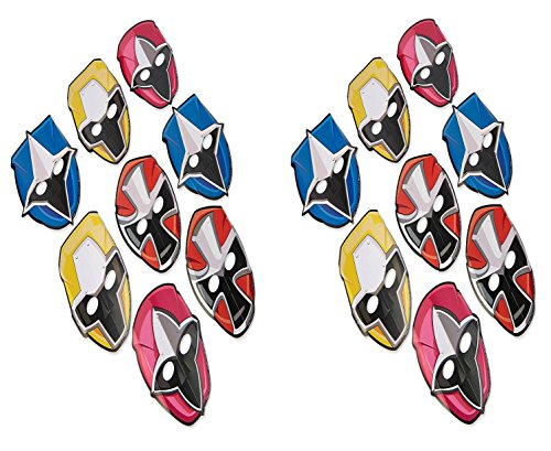American Greetings Power Rangers 16 Count Party Masks, Multicolor, One (Power Ranger Masks)