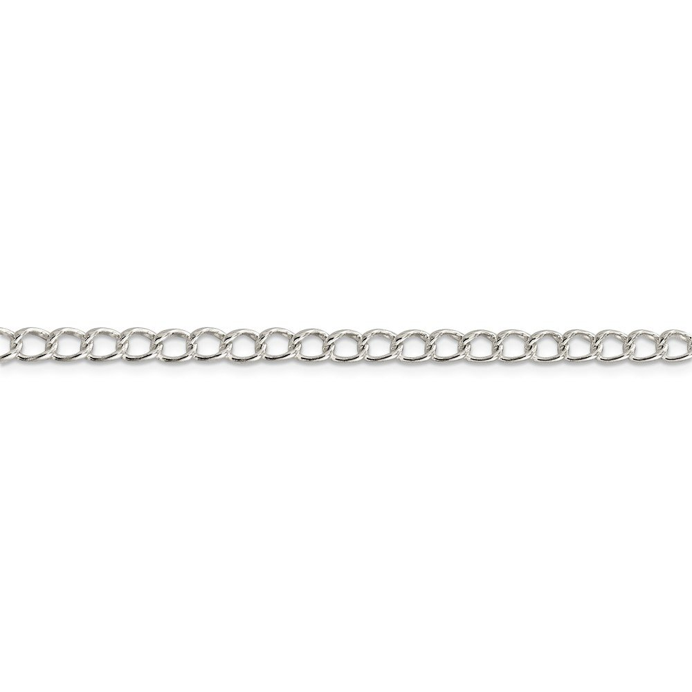 925 Sterling Silver 4.5mm Half Round Wire Link Curb Chain Necklace 18 Inch Pendant Charm Fine Jewelry For Women Gift Set