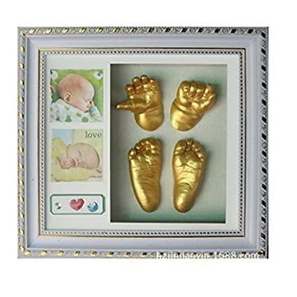 Babies Bloom 3d Baby Hand And Footprint Kit With Photo Frame Grey