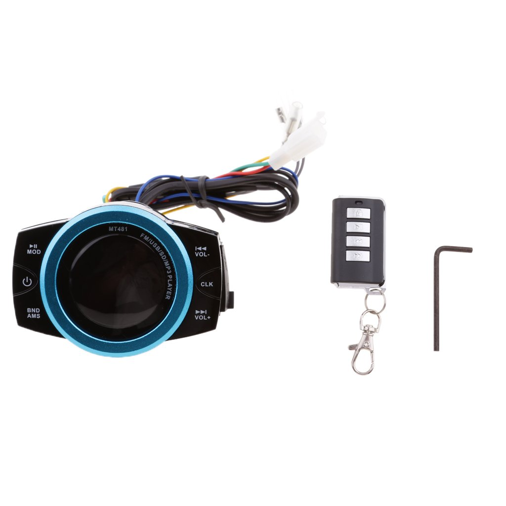 Jili Online Remote Control Motorcycle Anti-theft Audio Radio System USB MP3 Player