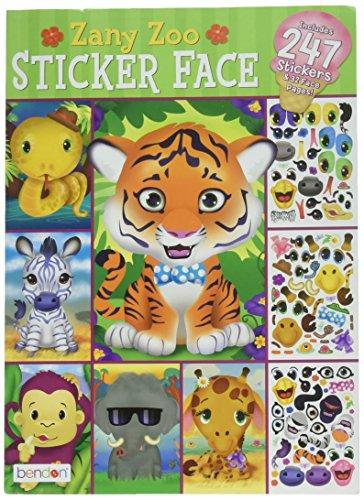 (Zany Zoo Sticker Face Activity Book)