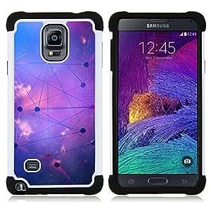 """Pulsar ( Forma de Estrella Sistema Sky Purple Astrología"""" ) Samsung Galaxy Note 4 IV / SM-N910 SM-N910 híbrida Heavy Duty Impact pesado deber de protección a los choques caso Carcasa de parachoques [Ne"""