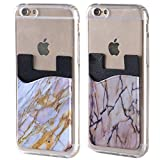 2 Pack Marble Adhesive Phone Pocket,Silicone Cell