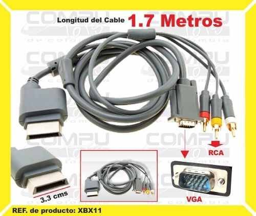 Modavela Cable Vga HD Xbox 360 Audio Y Video AV 1080i 480p Db15-s