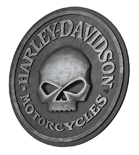 HARLEY-DAVIDSON Willie G Skull Sculpted 3D Pub Sign, 18 in Diameter HDL-15311