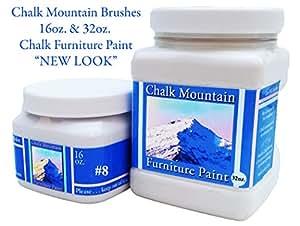 Chalk Mountain Supply Quality (32oz & 16oz) Chalk Furniture Paint- NON TOXIC-SAFE TO USE INDOORS- Superior Coverage-LOW ODOR & ZERO VOC