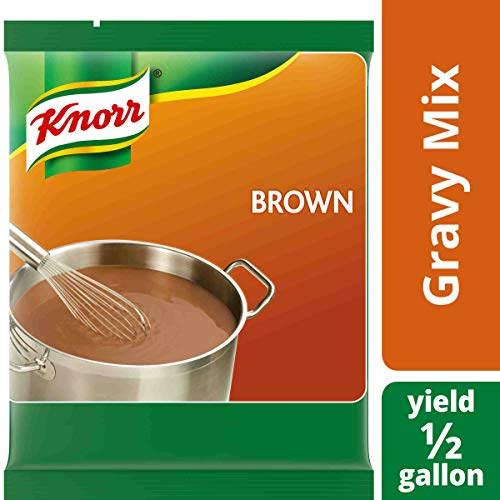 (Knorr Professional Brown Gravy Mix Vegan, Gluten Free, No Artificial Flavors or Preservatives, No added MSG, Dairy Free,Colors from Natural Sources, 6.83 oz, Pack of 6)