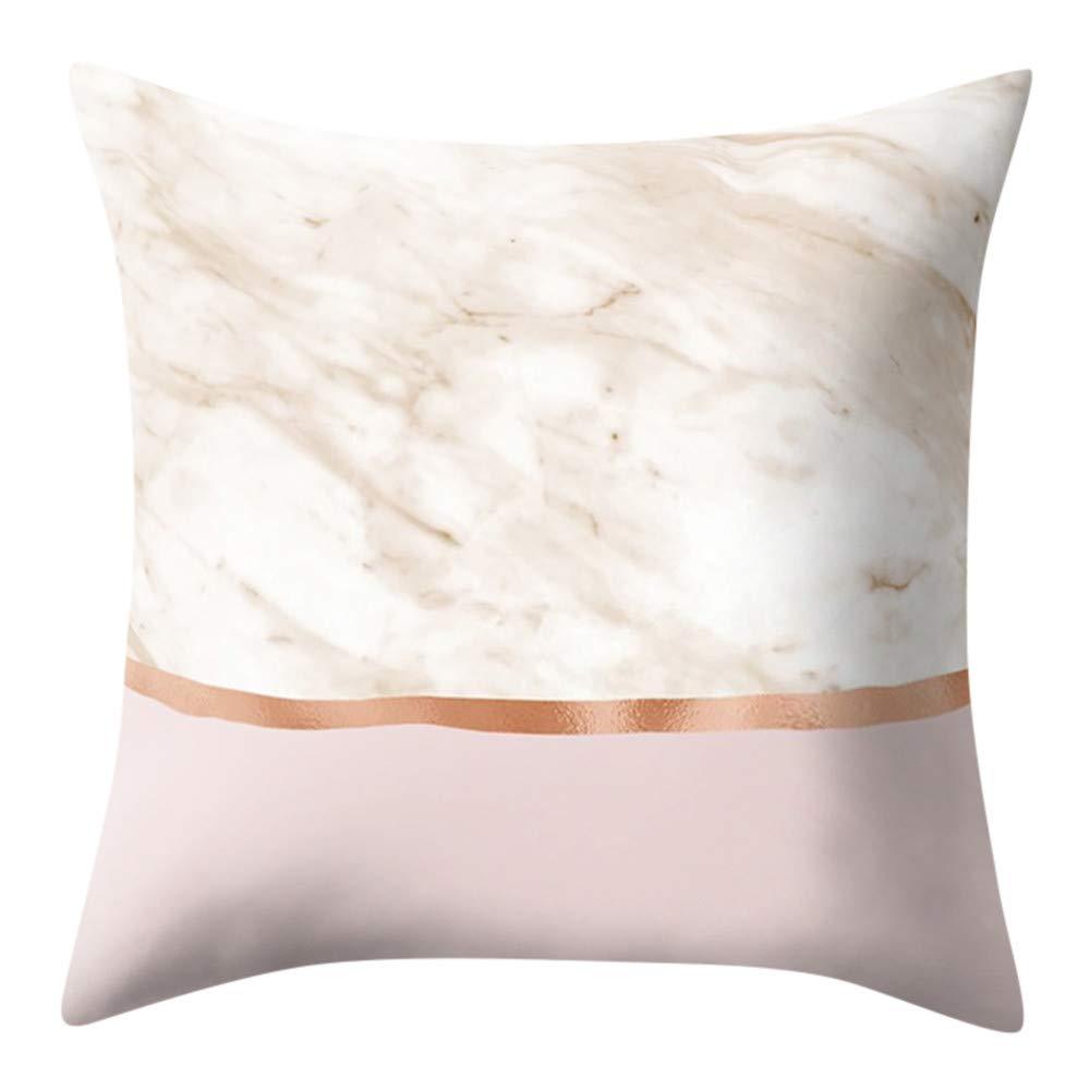 Pgojuni Geometric Marble Texture Throw Pillow Cover Super Soft Decoration Square Cushion Cover 1pc 45 x 45cm (M)