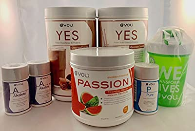 Yoli Better Body System - 30 Day Transformation Kit Weight Loss System - Passion Tropical Melon with 2 YES! Chocolate Shakes [CANADA]
