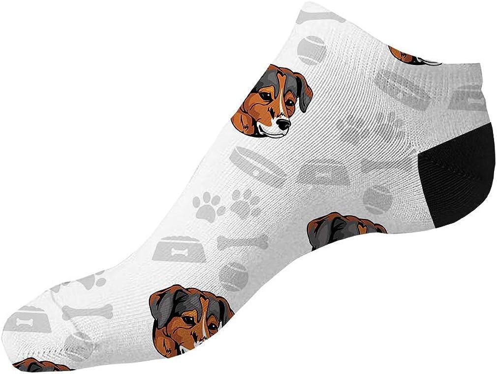 Danish Swedish Farmdog Dog Pattern #3 Men-Women Adult Ankle Socks