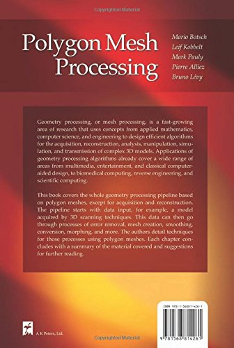 Polygon Mesh Processing by A K Peters/CRC Press