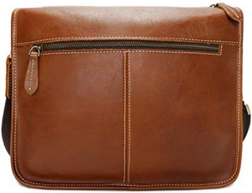 Color : Brown Hexiaoyi Mens Messenger Shoulder Camera Bag Vintage Leather Briefcase Crossbody Day Bag for School and Work Messenger Bag