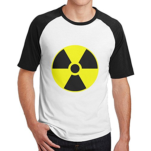 Double Happiness Raglan Nuclear Tees Black XXL For Mens Or (Helium Buffalo)
