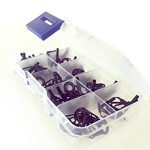 6sizes 30 Pcs Stainless Steel Fishing Rod Guides Tip Repair Kit Fishing Rod Building (Pole Building Kits compare prices)