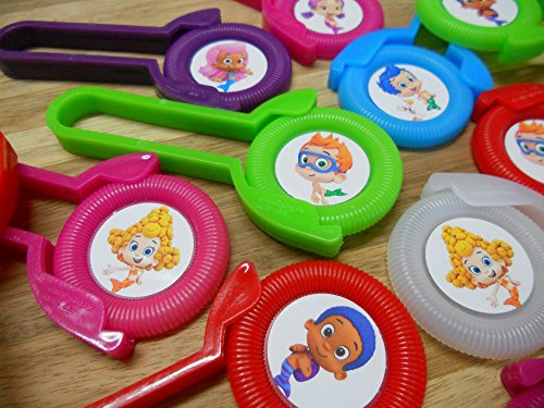 12 BUBBLE GUPPIES disk shooters for birthday party favors -