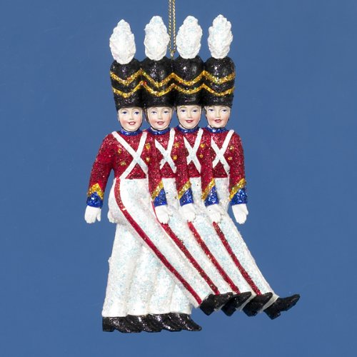 Kurt Adler 6-Inch Radio City Rockette Soldiers Christmas Ornament