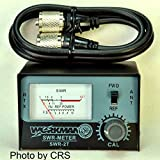Cheap SWR METER for CB Radio with 3′ Coax Jumper cable – Workman SWR2T & CX-3-PL-PL