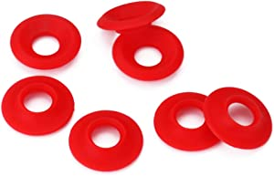 Tastebar Red Silicone Rubber Grolsch Gaskets Washers for Swing Top Bottle Suits Most Flip Top Bottles and Ez Easy Cap Bottles Home Brew Beer Soda Bottle Seal (50pc Pack)