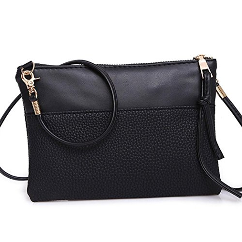 Clutch Cellphone for Crossbody Small Leather Black Handbag Women Pouch PU Purse Bag 6CpIq6