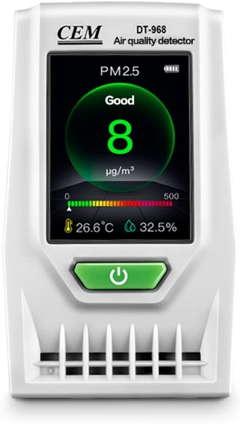 Air Quality Monitor ind CEM DT-968 Accurate Tester for CO2 Formaldehyde(HCHO) TVOC PM2.5/PM10 Multifunctional Air Gas Detector Real Time Data&Mean Value Recording for indoor
