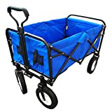B8010 Collapsible Folding Outdoor Utility Wagon, Blue