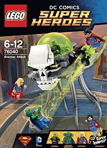 Super Heroes LEGO Brainiac Attack Brick Box Building Toys