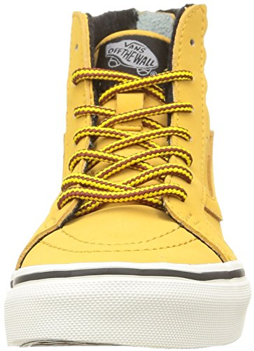 Vans K Sk8-hi Zip Mte - Zapatillas de estar por casa Unisex niños Mte/Honey/Leather