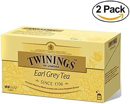 Twinings - Tè Negro - Earl Grey (50 Bolsas): Amazon.es: Alimentación y bebidas