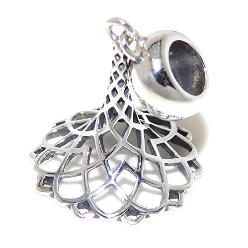 Pro Jewelry 925 Solid Sterling Silver Dangling Lattice Work Witch's Hat Charm Bead (Pandora The Witch Costume)