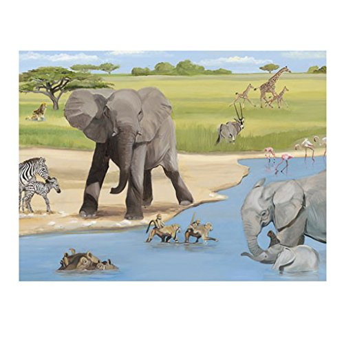 Oopsy Daisy African Safari Stretched Art