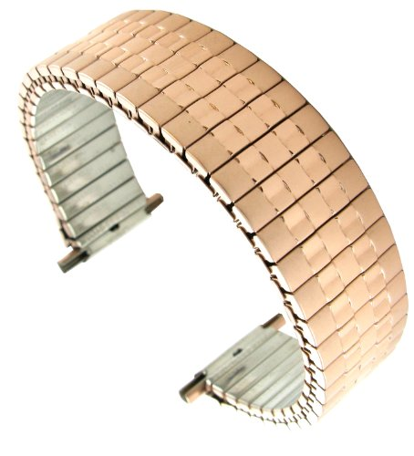 - Hadley Roma MB7344R 16-22mm Rose Gold Tone Tapered Straight Men Expansion Watch Band