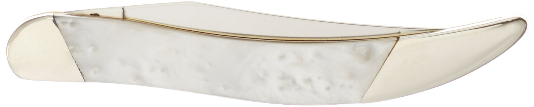 Case Cutlery S910096WP Slant Bolster Texas Toothpick Pocket Knife, Small, White Pearl