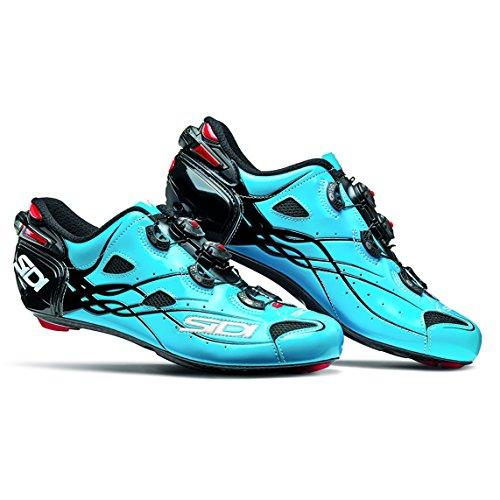 啓示口実お肉SIDI(シディ) SHOT(ショット) Road Cycling Shoes - Blue Sky/Black [並行輸入品]
