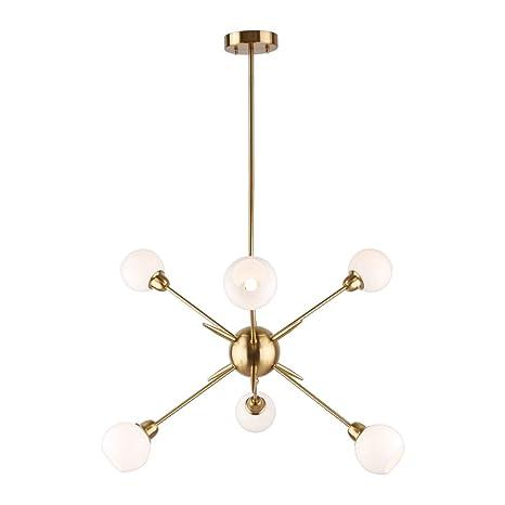 Brass pendant lighting Custom Image Unavailable Amazoncom Sputnik Chandelier Lights Vintage Pendant Lighting Fixtures Mid