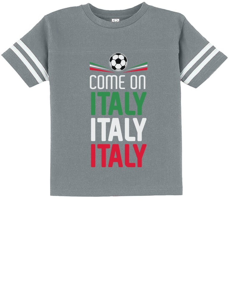 Tstars Come On Italy - Soccer Fans Toddler Jersey T-Shirt 3T Gray