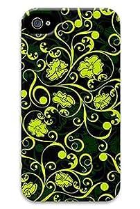 CaseandHome Green Vector Floral Veins Design Hard Case for iphone 4/4s